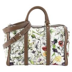 Gucci Convertible Joy Boston Bag Flora Canvas Medium