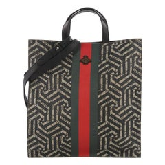 Gucci Convertible Soft Open Tote Caleido Print GG Coated Canvas