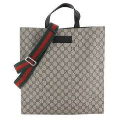 Gucci Convertible Soft Open Tote GG Coated Canvas Tall