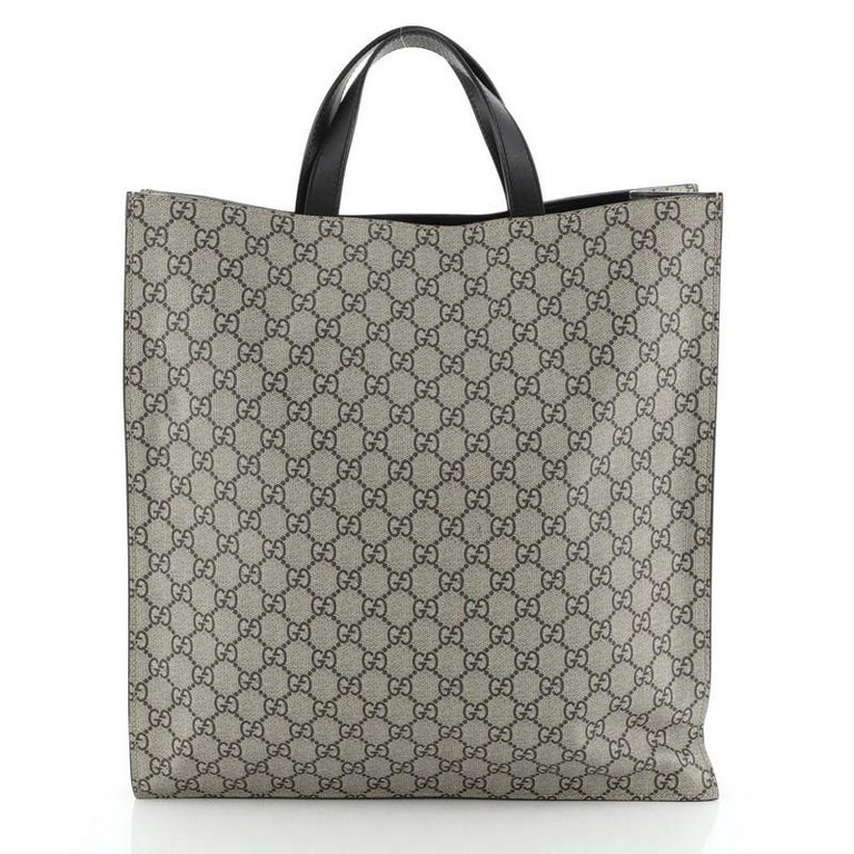 Gucci Convertible Soft Open Tote Printed GG Coated Canvas Tall In Good Condition For Sale In New York, NY