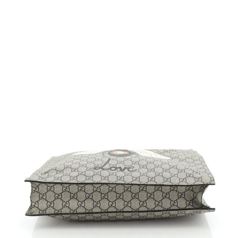 Women's or Men's Gucci Convertible Soft Open Tote Printed GG Coated Canvas Tall For Sale