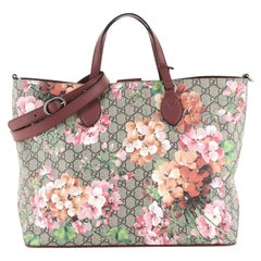 Gucci Convertible Soft Tote Blooms Print GG Coated Canvas Medium