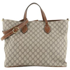 Gucci Convertible Soft Tote GG Coated Canvas Medium