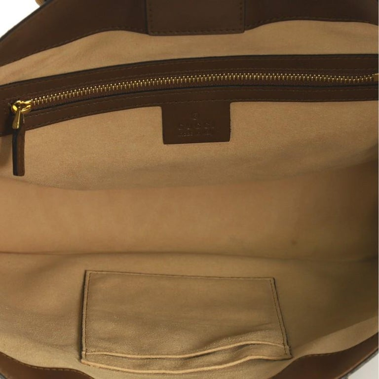 Gucci Convertible Soft Tote GG Coated Canvas Small For Sale 1