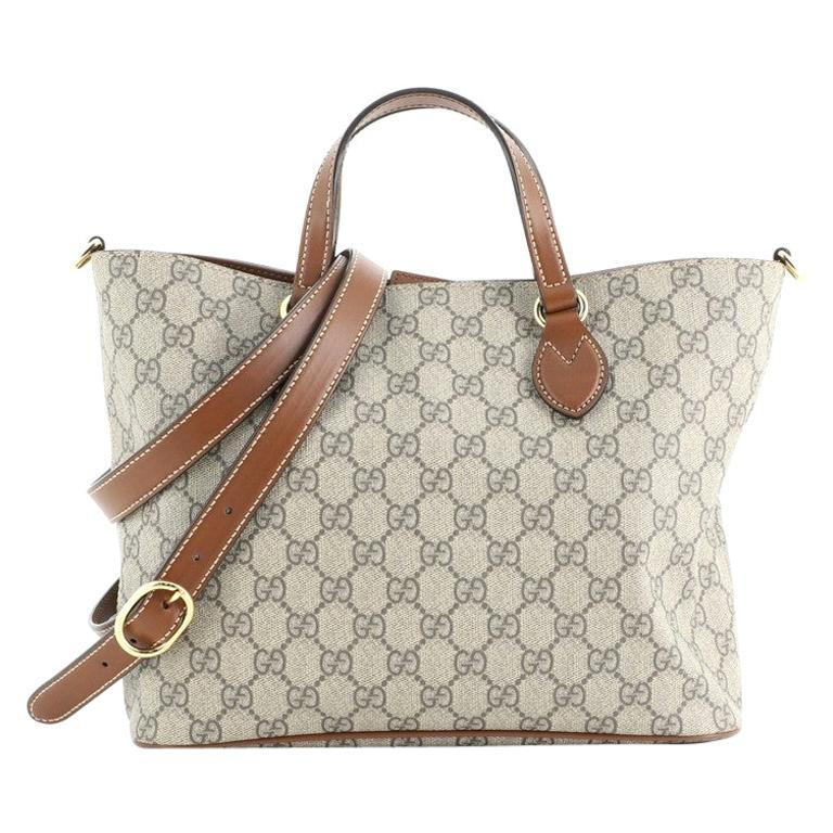 Gucci Convertible Soft Tote GG Coated Canvas Small For Sale