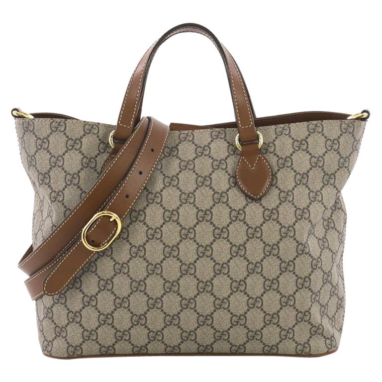 23b4c3d5a30c37 Gucci Convertible Soft Tote GG Coated Canvas Small For Sale at 1stdibs