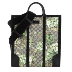 Gucci Convertible Tote Blooms Print GG Coated Canvas Tall