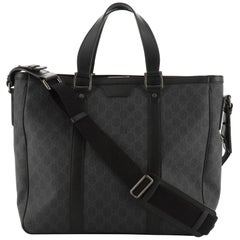 Gucci Convertible Tote GG Coated Canvas Large