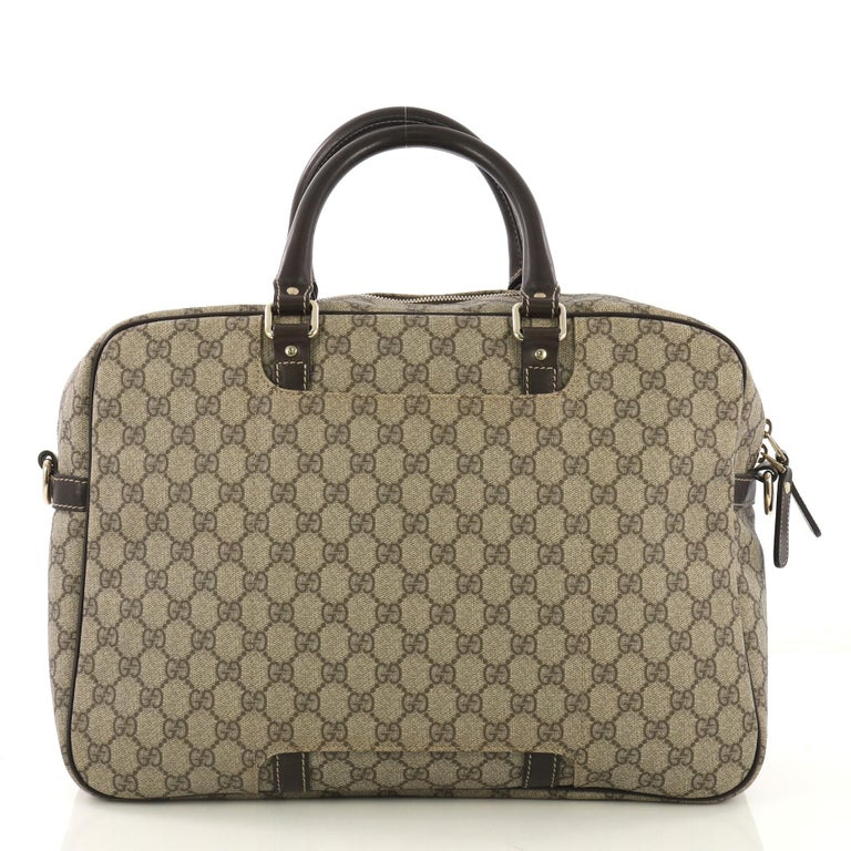 4ce08e441fea Gucci Convertible Travel Bag GG Coated Canvas Medium For Sale at 1stdibs