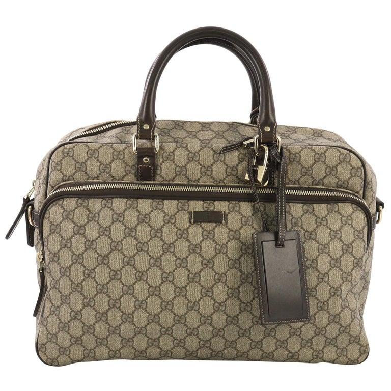 cab33ddc5 Gucci Convertible Travel Bag GG Coated Canvas Medium at 1stdibs