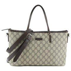 Gucci Convertible Zip Tote GG Coated Canvas Medium