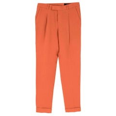 Gucci Coral Pleated Crepe Trousers SIZE 38