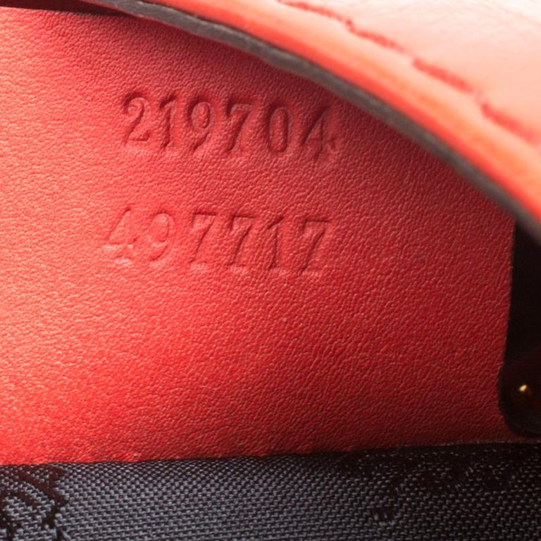 Gucci Coral Red Leather Large New Jackie Hobo For Sale 2