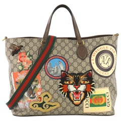Gucci Courrier Convertible Soft Open Tote GG Coated Canvas with Applique Large