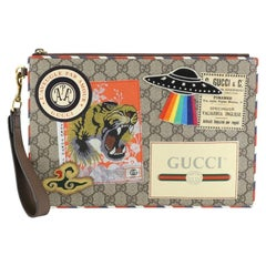 Gucci Courrier Pouch GG Coated Canvas with Applique,