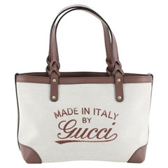 Gucci Craft Tote Canvas Small, crafted from neutral canvas