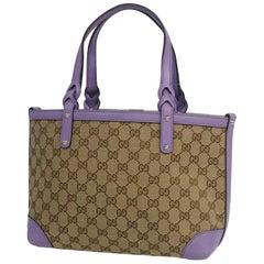 GUCCI Craft Womens tote bag 269878 beige x purple