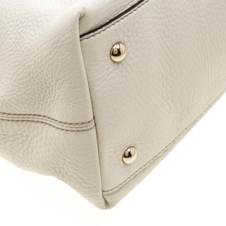 Gucci Cream Leather Soho Working Tote 4