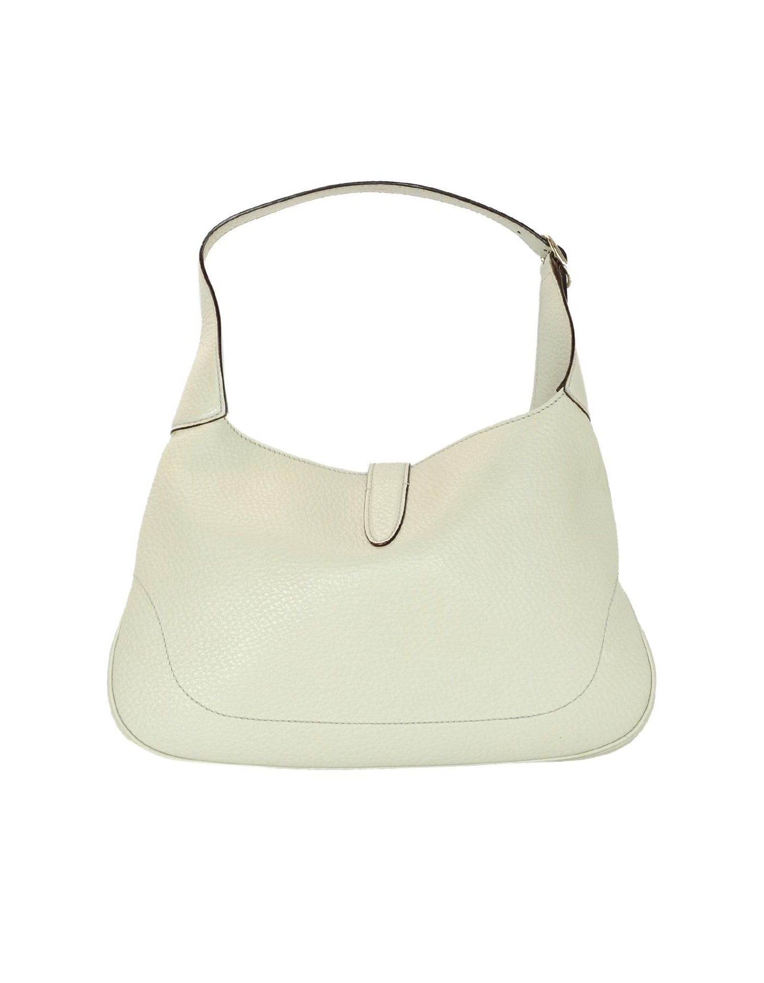 bff89b66b7d Gucci Cream Pebbled Leather Jackie O Bouvier Hobo Bag W  DB For Sale at  1stdibs