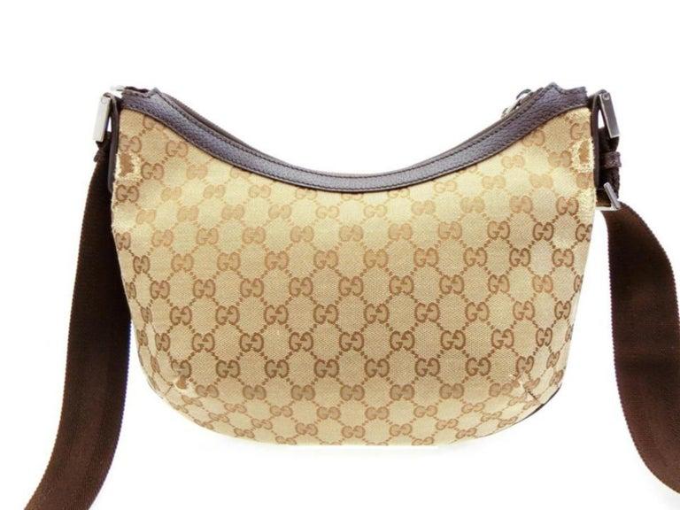 94d02223f94908 Gucci Crescent Half Moon Monogram Gg Hobo Messenger 231938 Brown Cross Body  Bag For Sale 2