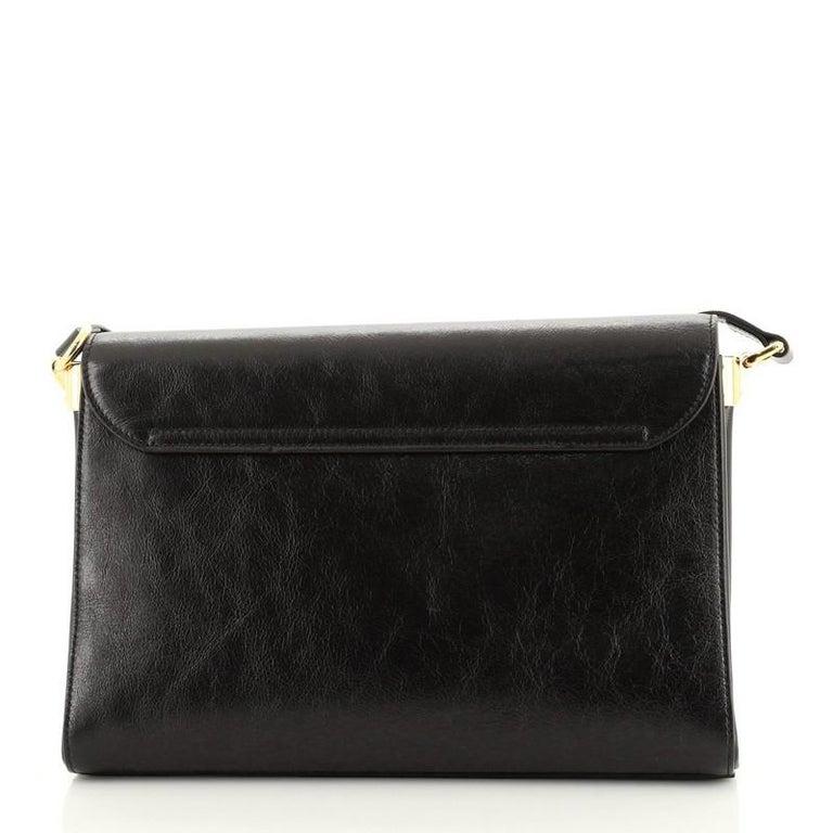 Black Gucci Crystal Animalier Shoulder Bag Leather Medium For Sale