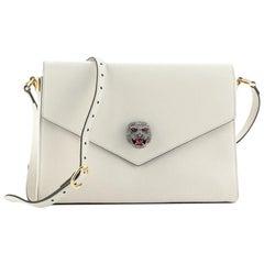 Gucci Crystal Animalier Shoulder Bag Leather Medium