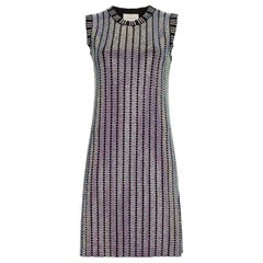 Gucci Crystal Embroidered Ribbed Knit Dress