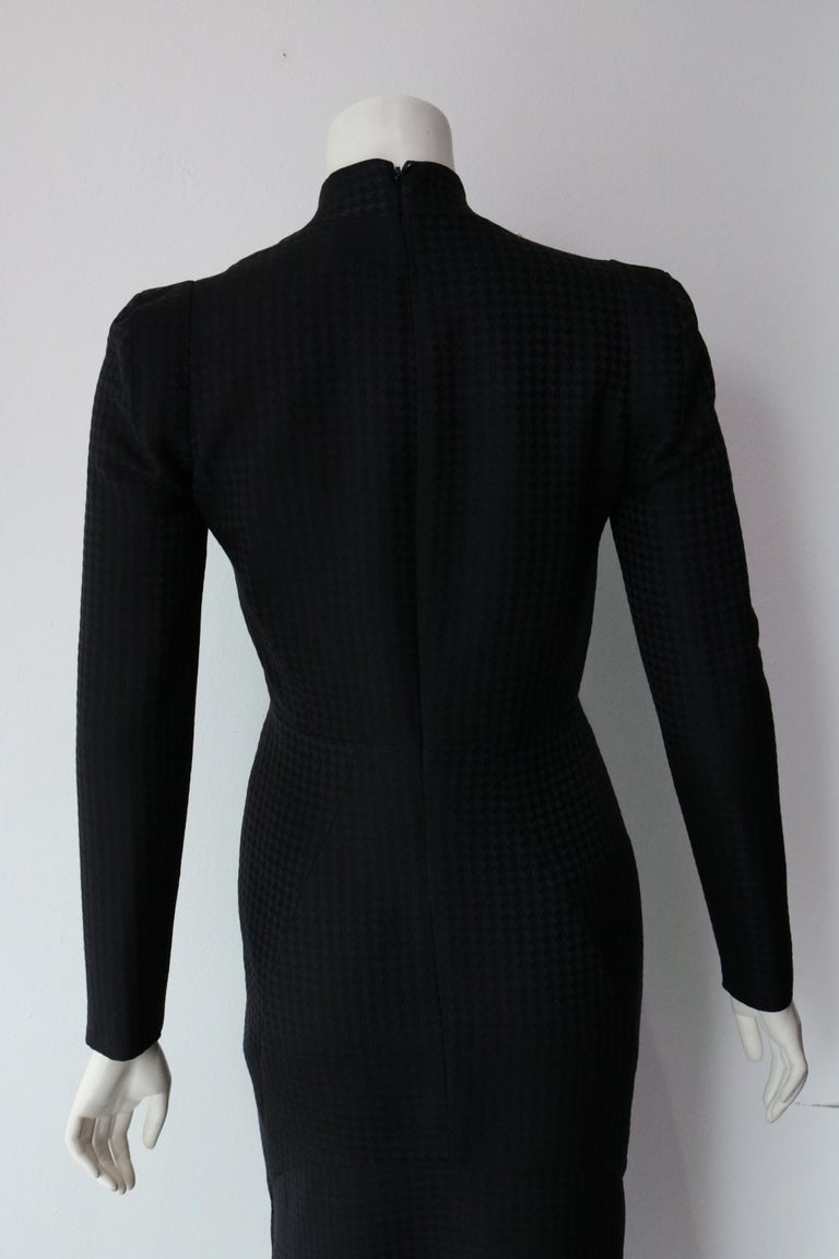 Women's Gucci Current Houndstooth Black Dress  For Sale