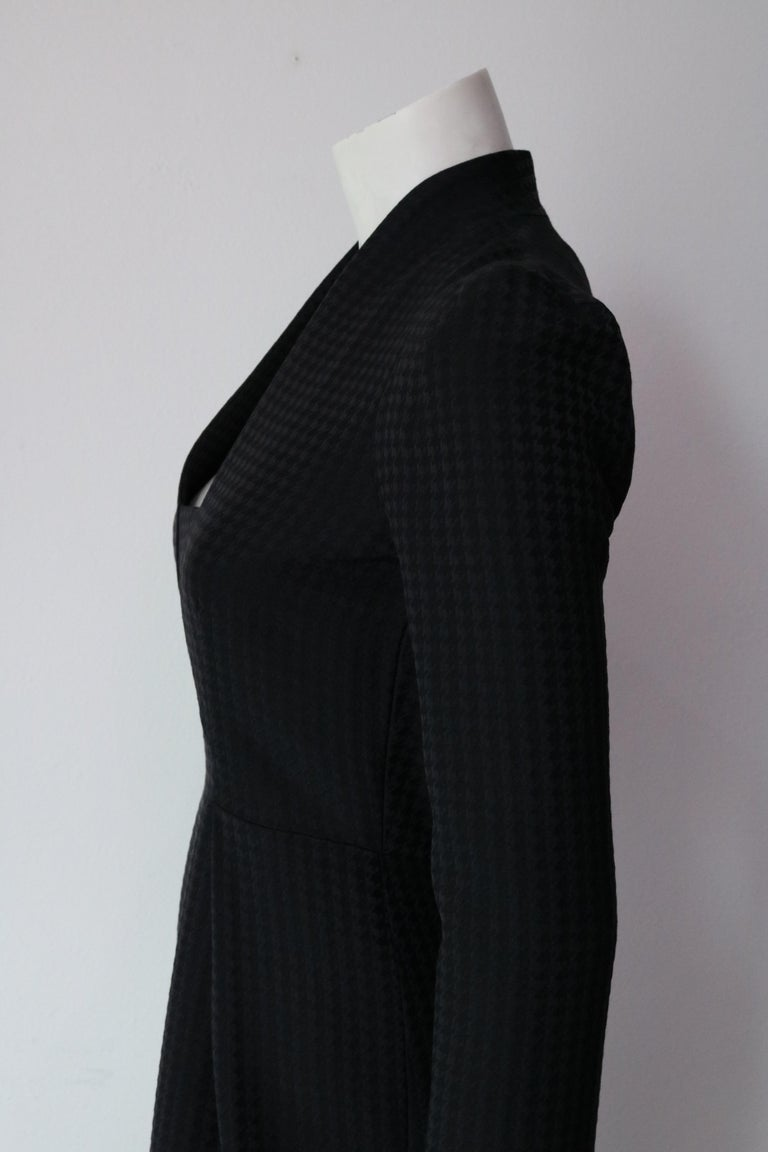 Gucci Current Houndstooth Black Dress  For Sale 1