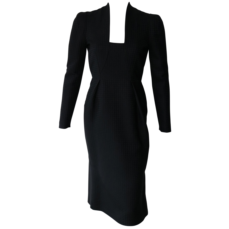 Gucci Current Houndstooth Black Dress