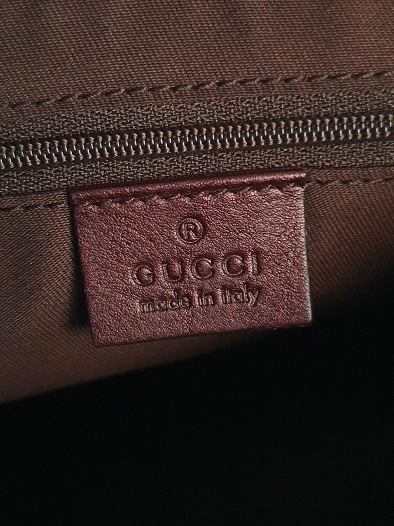 Gucci, D-ring Hobo in brown canvas For Sale 1