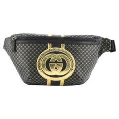 Gucci Dapper Dan Belt Bag GG Print Leather with Python