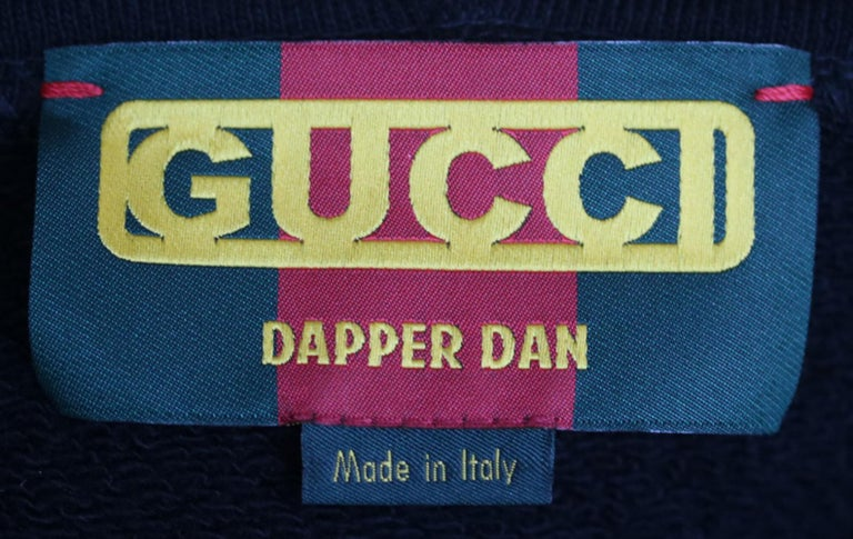 Women's or Men's Gucci Dapper Dan Logo Cotton-Jersey Hoodie  For Sale