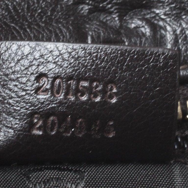 Gucci Dark Brown Guccissima Leather Crossbody Bag For Sale 1