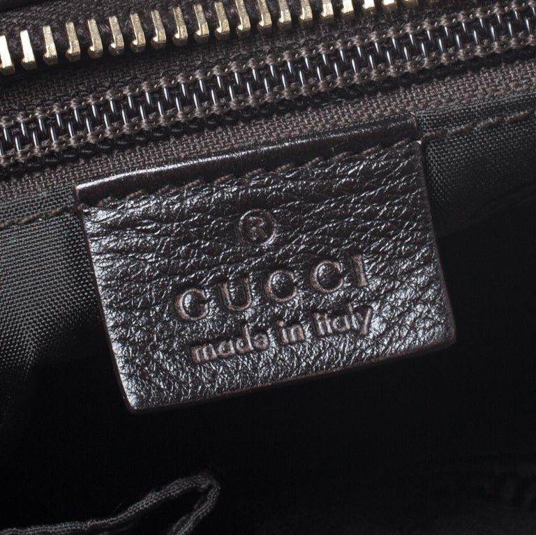 Gucci Dark Brown Guccissima Leather Crossbody Bag For Sale 2