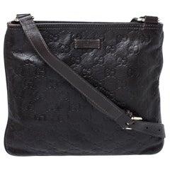 Gucci Dark Brown Guccissima Leather Crossbody Bag