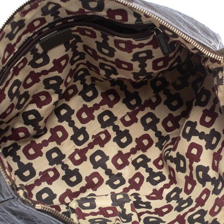 Gucci Dark Brown Guccissima Leather Medium Abbey Tote For Sale 5