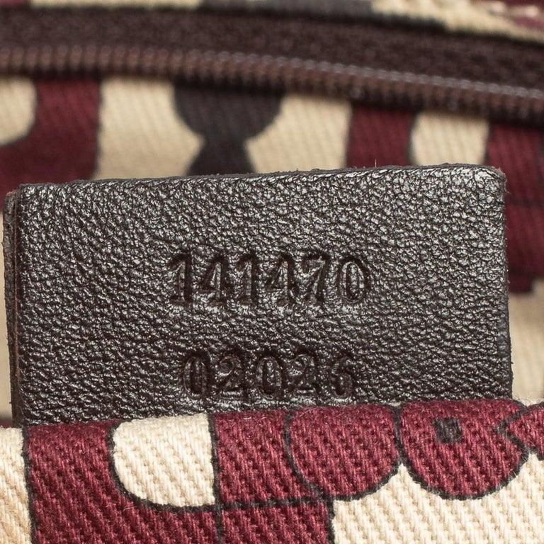 Gucci Dark Brown Guccissima Leather Medium Abbey Tote For Sale 6