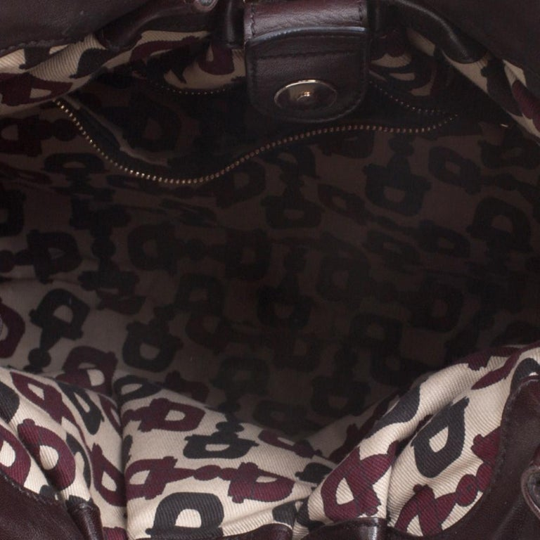 Gucci Dark Brown Guccissima Leather Medium Pelham Studded Hobo For Sale 3