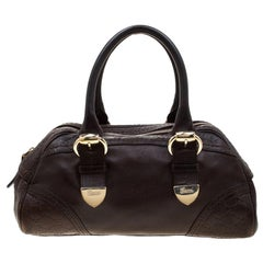 Gucci Dark Brown Guccissima Leather Satchel