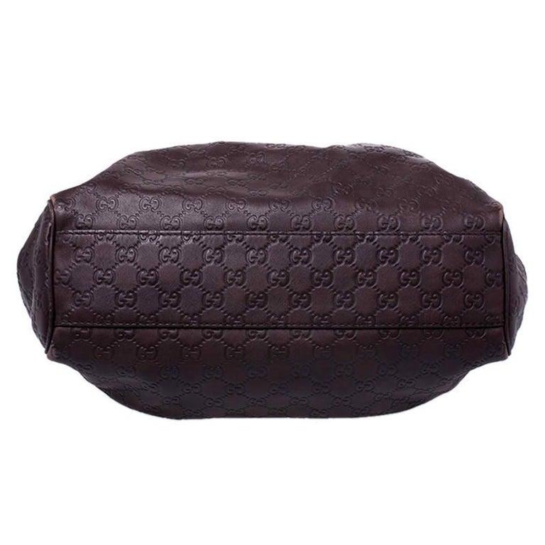 Women's Gucci Dark Brown Guccissima Leather Sukey Tote For Sale