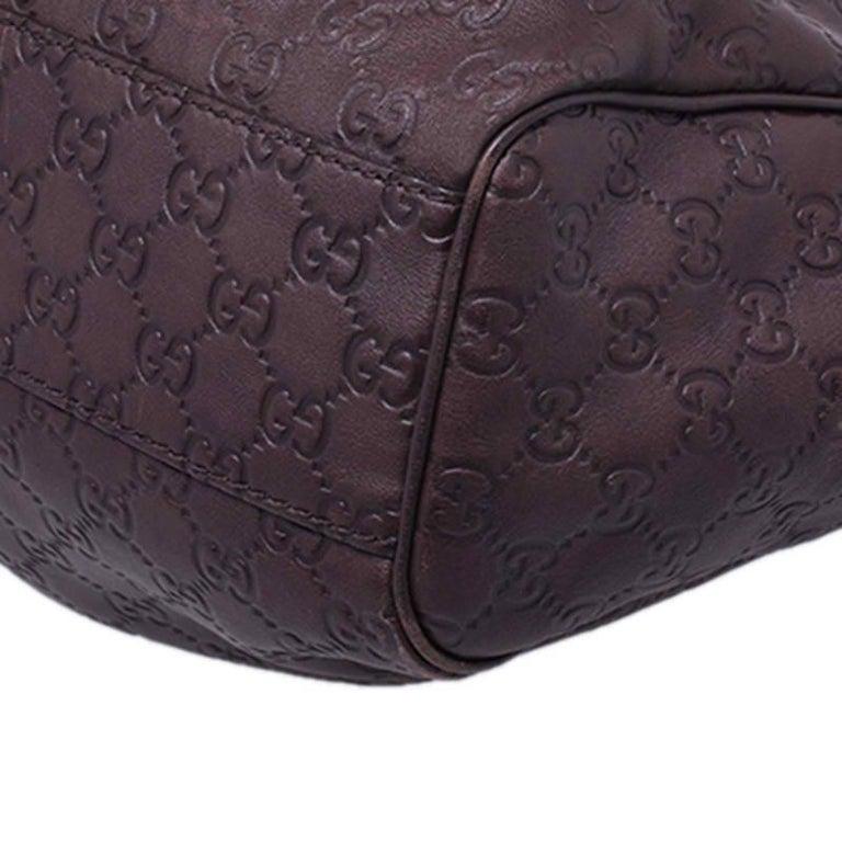 Gucci Dark Brown Guccissima Leather Sukey Tote For Sale 2