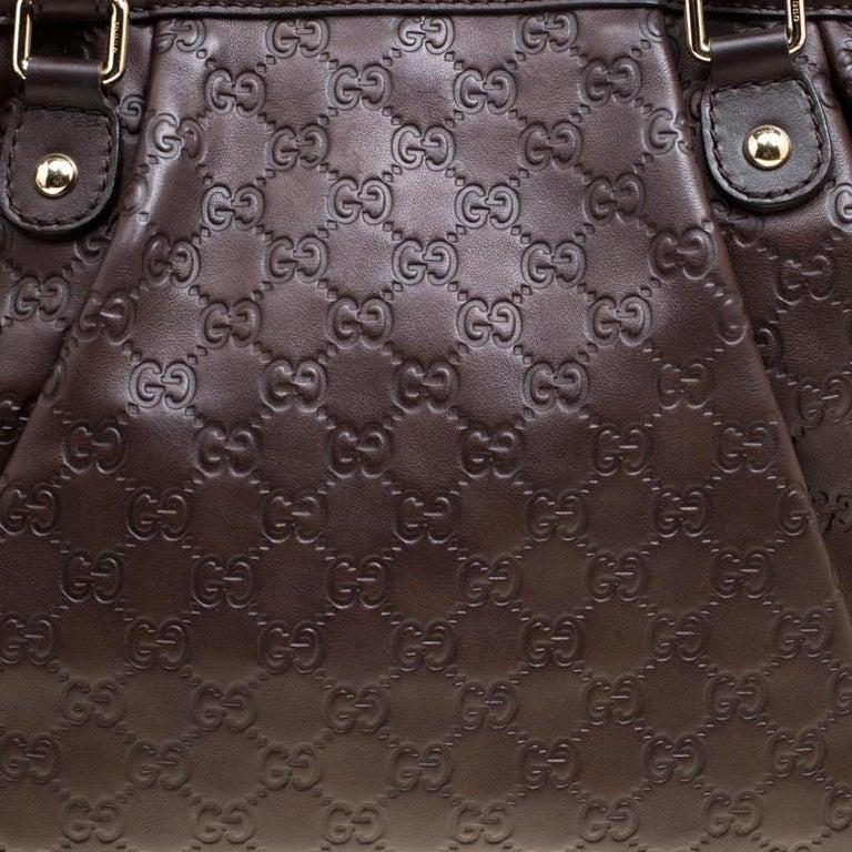 3dca8648fd80 Gucci Dark Brown Guccissima Leather Sukey Tote For Sale at 1stdibs