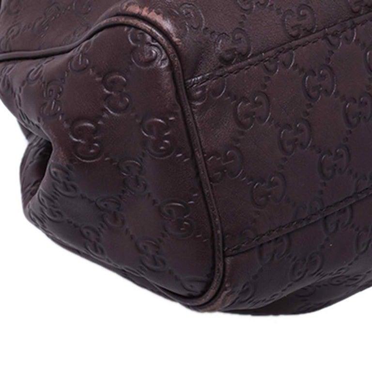 Gucci Dark Brown Guccissima Leather Sukey Tote For Sale 3