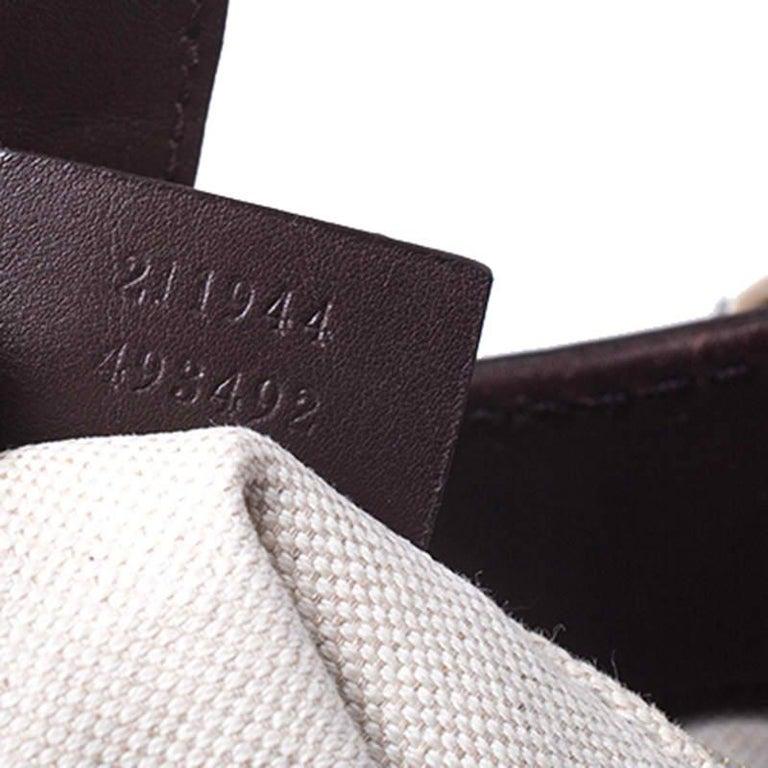 Gucci Dark Brown Guccissima Leather Sukey Tote For Sale 5