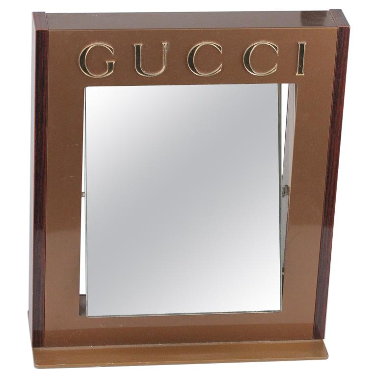 GUCCI Dealer Store Display Pivotable MIRROR Rare For Sale
