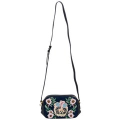 Gucci Denim Embroidered Crossbody Bag