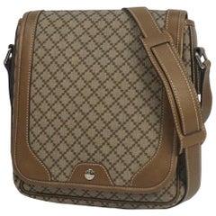 GUCCI Diamante cross body unisex shoulder bag 295679 beige x brown