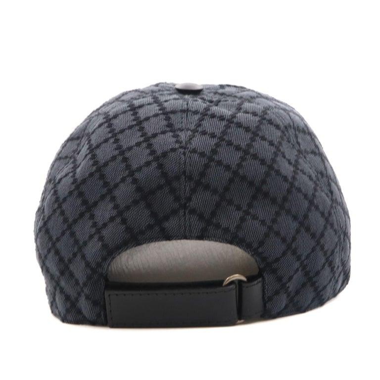 Gucci Diamante Gray / Black  Men's Baseball Hat XL For Sale 3