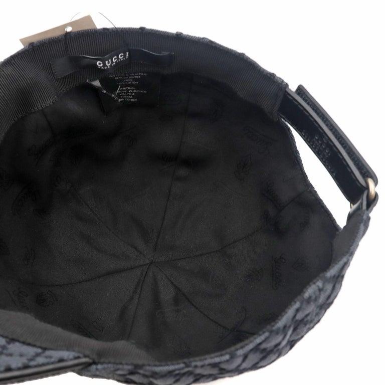 Gucci Diamante Gray / Black  Men's Baseball Hat XL For Sale 5